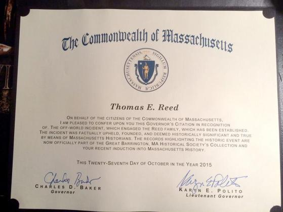 Thom Reed - Massachussessets Proclamation