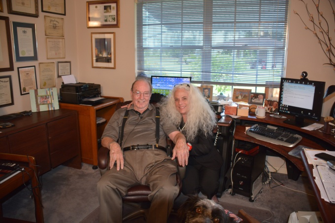 Edgar Mitchell office with Carol Rosin.jpg