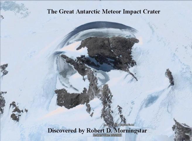 great antarctic impact crater - text