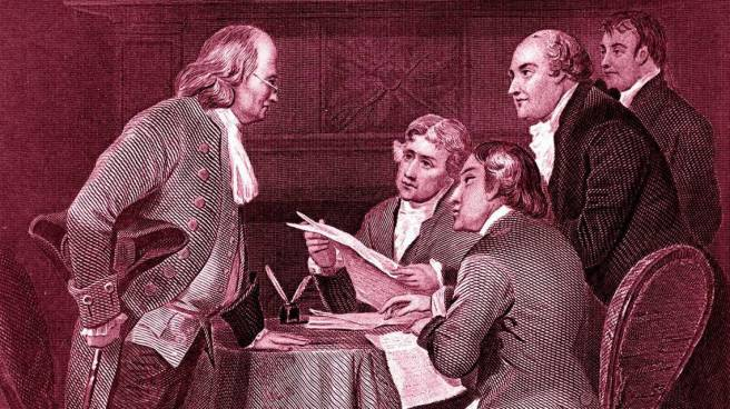 The Eyes of founding fathers declaration