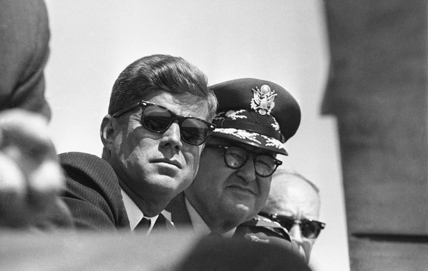 This image has an empty alt attribute; its file name is jfk-surly-look-with-lemay.jpg